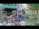 Дрова из отходов осины (сырые но хорошо колются). Урок колки внуку...