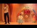 Рафис Бикбаев со своей доченькой на юбилейном вечере детского праздника в честь 80 летия садика Сказка