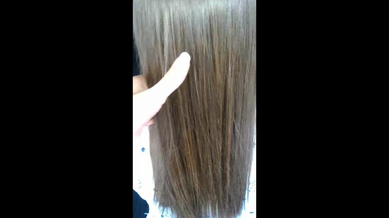 кератиновое выпрямление волос,состав смыт и высушенные феном без расчески