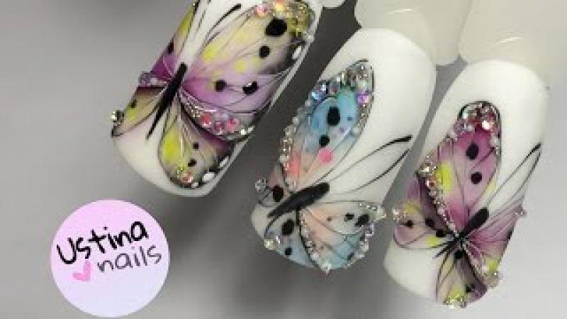 Дизайн ногтей. Бабочки. Урок 2 » Freewka.com - Смотреть онлайн в хорощем качестве