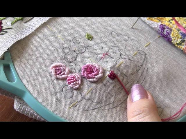 Уроки вышивания по технике рококо учимся правильно создавать узелок