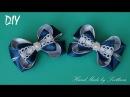 Резинки с бантиками из лент для Школы КАНЗАШИ DIY Bows made of ribbon Kanzashi Laço de Cetim Curva d