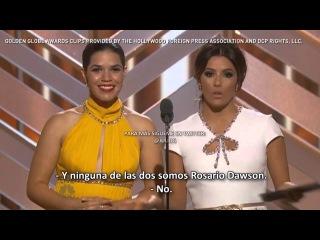 Eva Longoria America Ferrera Broma en los Golden Globes 2016 SUBTITULADO