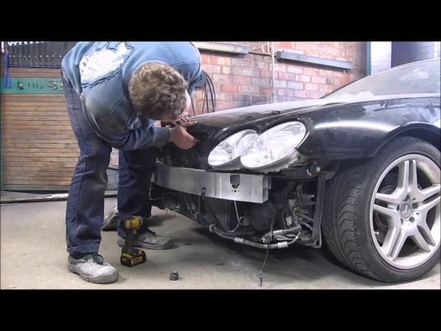 Mercedes SL550. A little body repair. Небольшой ремонт кузова.