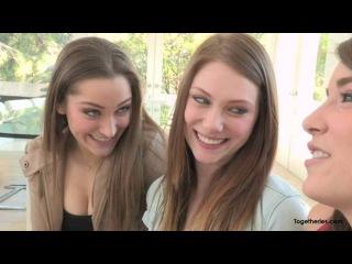 Lesbian Threesome Kiss HD
