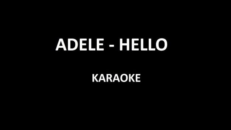 Adele - Hello (Karaoke)