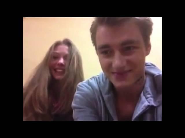 Леша Воробьев и Тася Вилкова на съемках сериала Деффчонки.