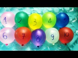 Learn Colors with Wet Balloons TOP Finger Colors Water Balloon Song Learn Numbers 1-10 P2