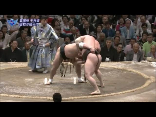 Hakuho vs Harumafuji-24.05.15 白鵬 VS 日馬