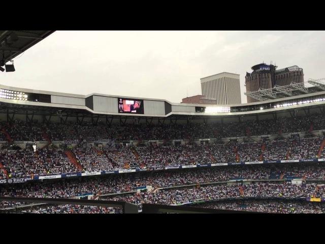 El Bernabéu canta a capela Hala Madrid Y Nada Más (Real Madrid - Juventus)