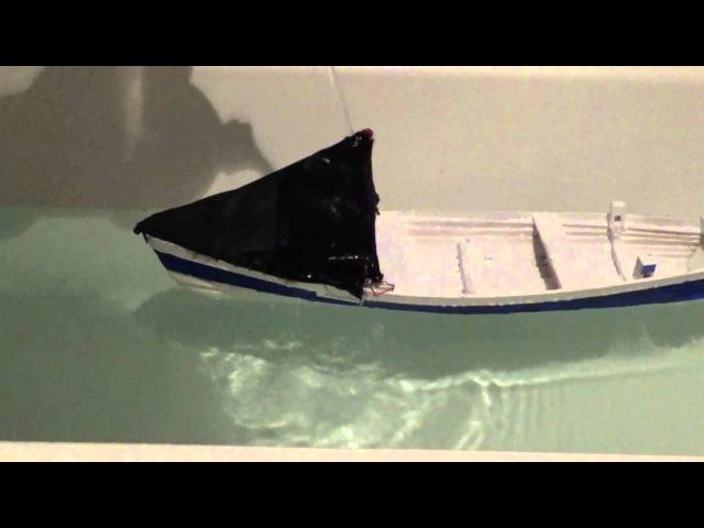 Coble model buoyancy tests 001