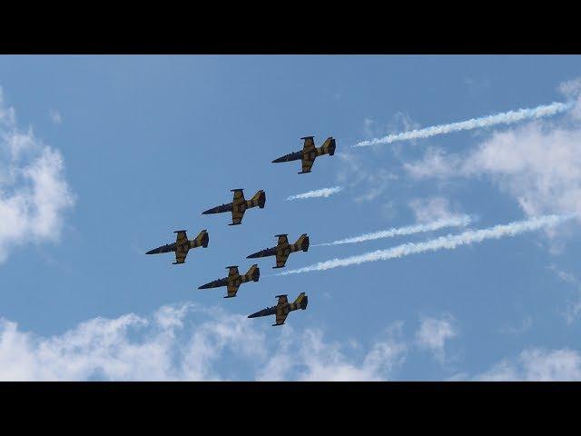 МАКС 2017 - выступление пилотажной группы
