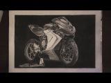 Рисунок мотоцикла MV Agusta F3. Процесс. Таймлапс