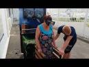 Аттракцион Виртуальная реальность часть 2 Геленджик Бабушка не испугалась 4 июля 2016 год