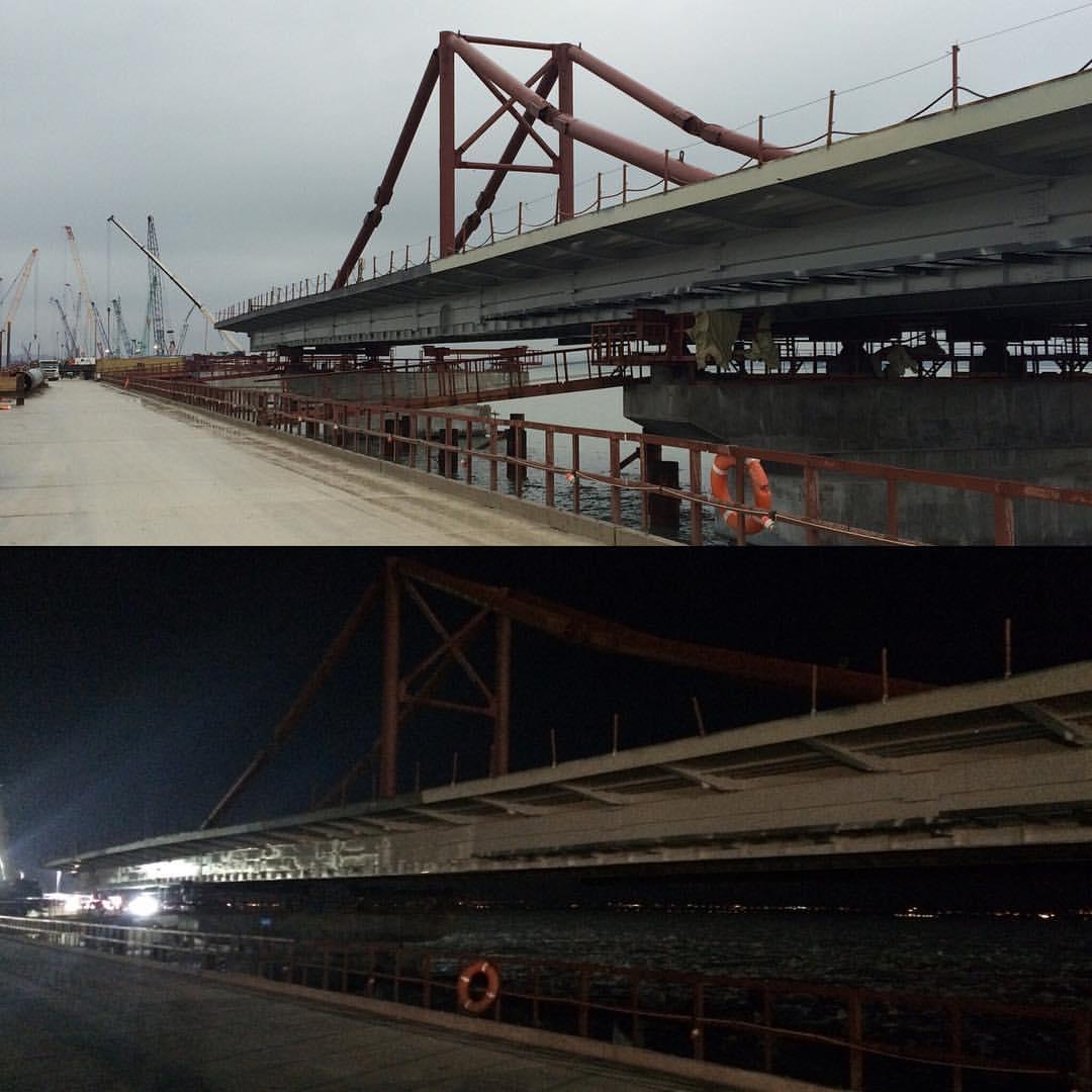 В сети появились свежие фотографии масштабной стройки Керченского моста