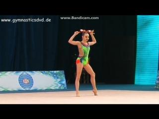 Полина Шматко - булавы (командное многоборье) // Международный турнир, Ташкент 2017