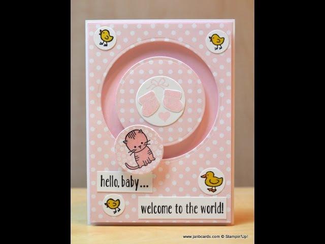 No.191 - Baby Slider Card - JanB UK Stampin' Up! Demonstrator Independent