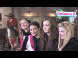 Emma Dumont Julia Goldani Telles with Kaitlyn Jenkins &amp Bailey Buntain at 2012 Christmas Parade