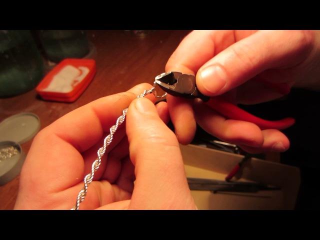 Тонкая серебреная цепочка не требующая пайки звеньев.Exclusive silver chain handmade