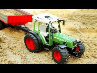 Big Tractor & JCB Excavators & Trucks + 1 HOUR Kids Video Compilation Cartoons Diggers for children