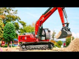 JCB Excavator w Crane & Red JCB Bulldozer Trucks Children Video Cars & Trucks cartoon for Kids