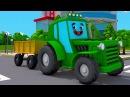 Tractors for kids Wesoły Traktorek i Nowe przygody w Miasto Samochód Maszyny rolnicze 2017