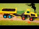 Видео для детей - Трактор, Экскаватор и Рабочие Машинки - Мультик Сборник