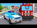 Видео для детей Полицейская Машина Пожарная Машина и Скорая помощь Авария на До ...