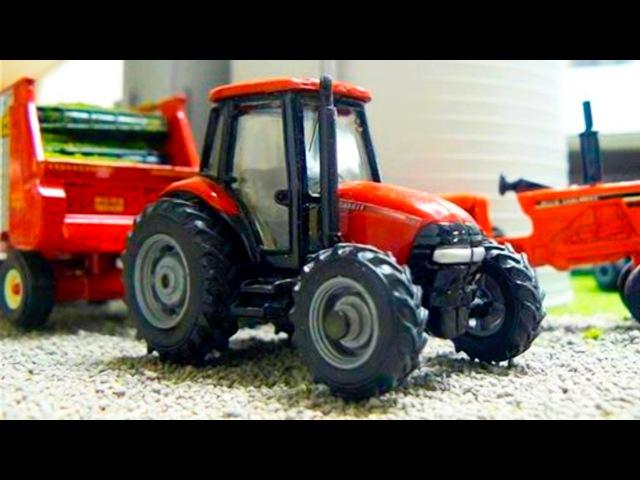 Traktor i Wielobarwny Balony - Maszyny rolnicze i Wesoły Zabawki w Miasto | Bajki dla dzieci