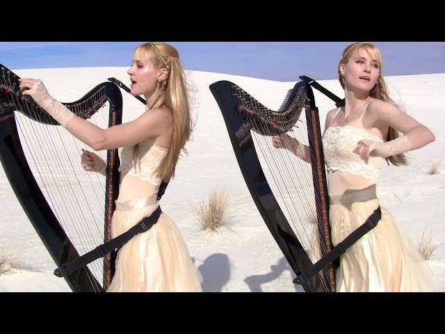METALLICA - Enter Sandman (Harp Twins Drums) Camille and Kennerly