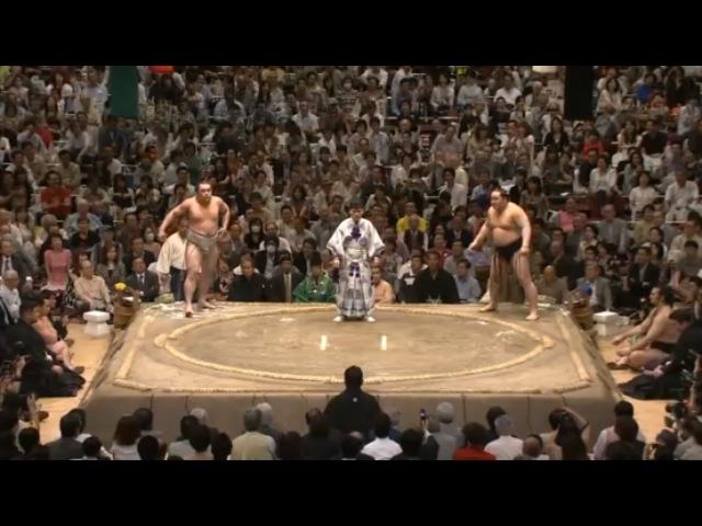 Asashoryu vs Harumafuji-24.05.09 朝青龍 VS 日馬