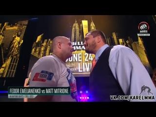 Презентация  бойцов  Bellator 180