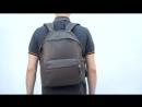 Рюкзак кожаный Eastpak PADDED PAKR Black