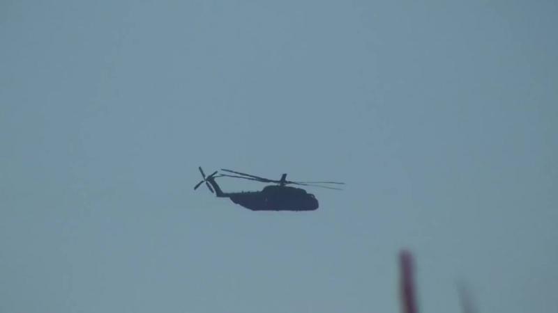 Militärhubschrauber landet in der Nähe von Reuden um 11:19 am 24.08.2016 Staat UR