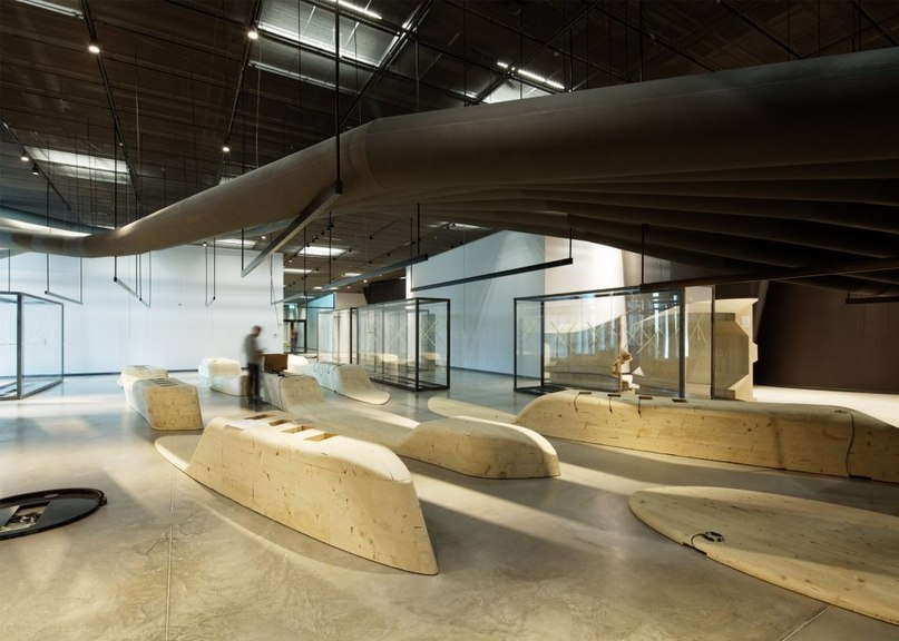 Estonia's wedge-shaped national museum opens on former