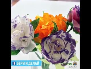 Красивые цветы из ткани для декора.