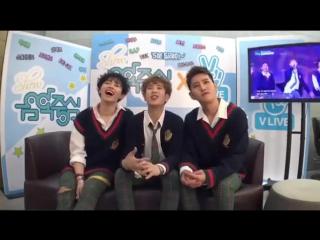 [161112] BLOCK B BASTARZ reaction on MBC Music Core