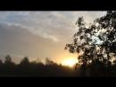 Раннее осеннее утро в деревне Лисья Сельга, Карелия.