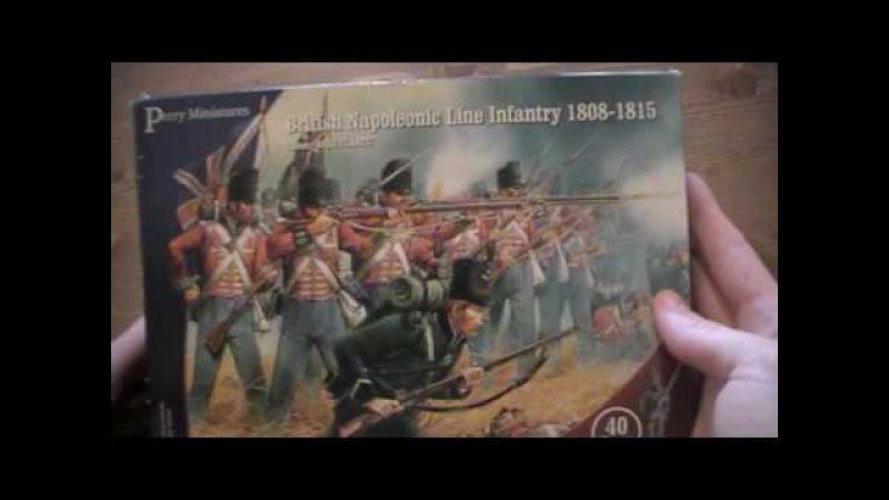 British Napoleonic Line Infantry ausgepackt