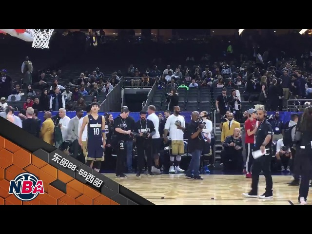 720P 170218 Kris Wu NBA All Star Celebrity Game 2017 Warm up 3 points cut
