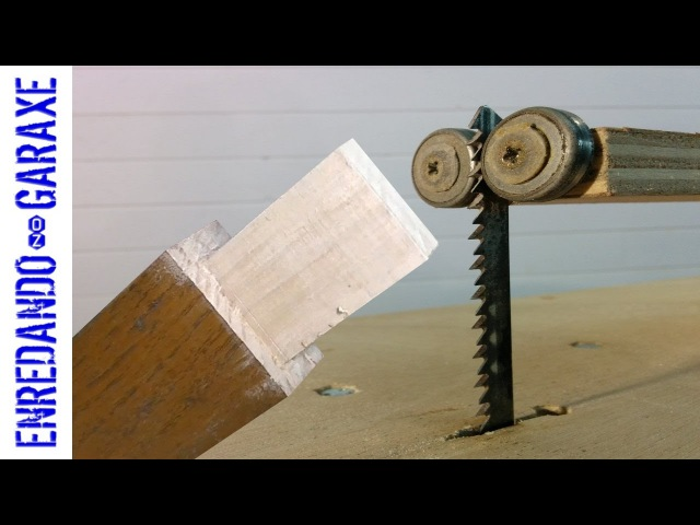 Cutting hardwood tenons with the jigsaw table