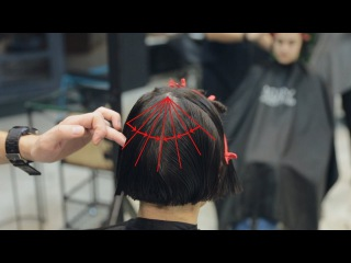 Long to bob haircut, how to cut bob with accents