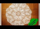 How to crochet big doily 17 diameter - Part 1 of 3