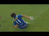 Dillyn Leyds produces an incredible no-look back pass for a try. Stormers vs Chiefs 2017