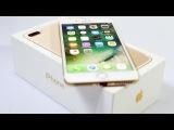 Реплика (точная копия) iPhone 7 plus распаковка, айфон 7 плюс обзор на русском.