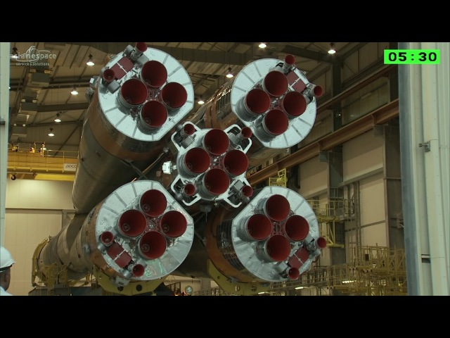 Assembly Highlights of Soyuz Rocket with HISPASAT 36-W1