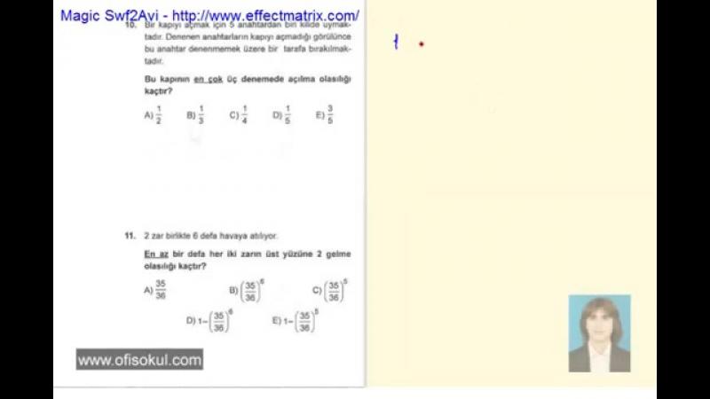 74-Olasılık 2 - Matematik Soru Çözme Seti - KPSS - YGS - LYS