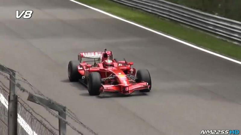 Uma comparação dos F1 V8, V10 e V12