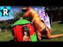 Динозавр Напал на Детей СТРАШИЛКИ Сборник Видео для Детей про Динозавров Giant Dinosaur attacks kids