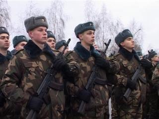 Принятие военной присяги в г. Слуцке